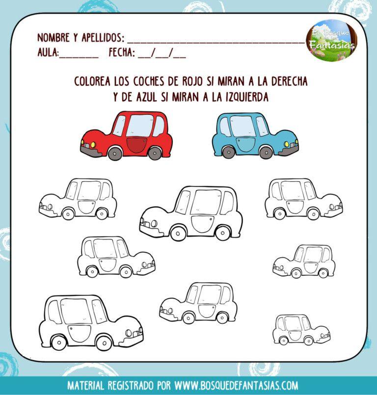 Fichas De Lateralidad Hoja 1 Fichas Actividades Para Ninos Preescolar Estimulacion Cognitiva Ninos