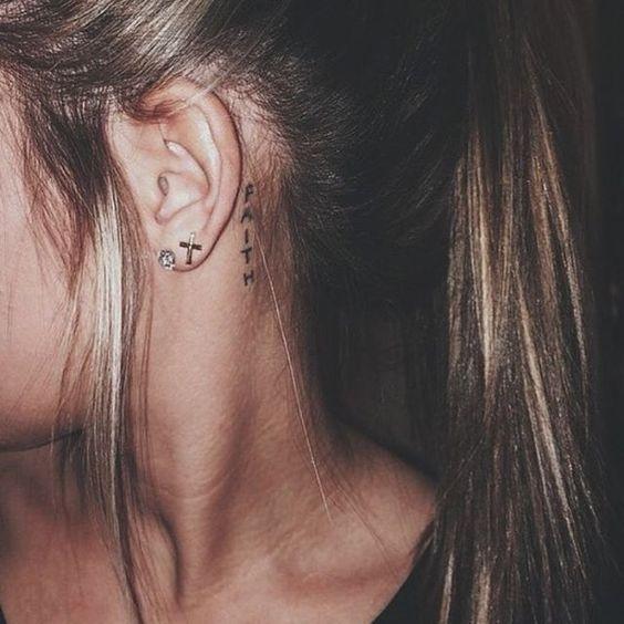 Inspirações Tatuagens Atrás Da Orelha Linda E Graciosa
