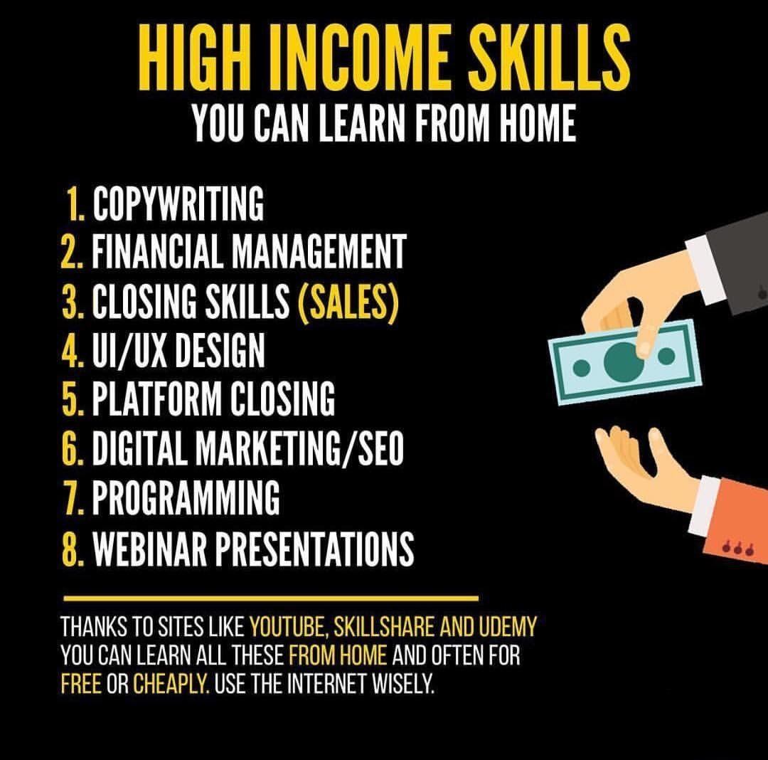 High income skills | How To Become Rich And Successful: 10 Skills Required | <--- Relat… | Money management advice, Business motivation, Business ideas entrepreneur