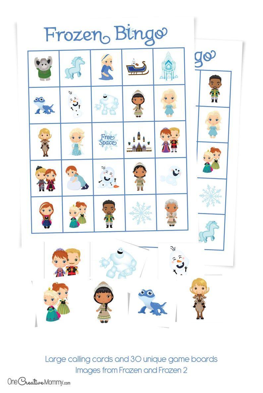 Frozen Bingo Game Etsy In 2021 Bingo Bingo Games Games For Toddlers