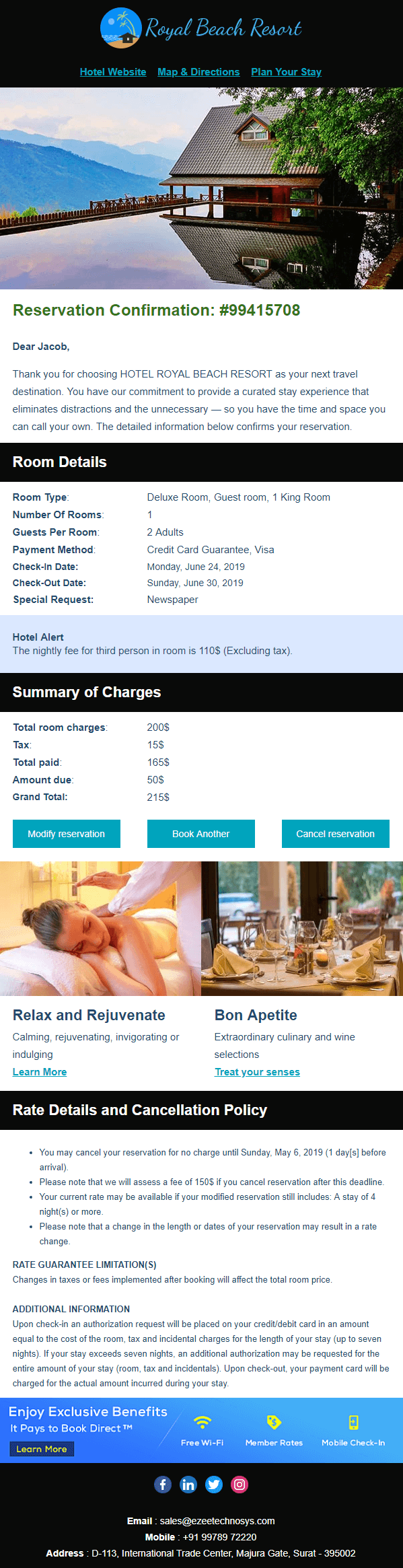 How to Effectively Design Hotel Booking Confirmation Email