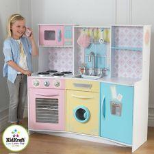 Kidkraft Wooden Kitchen Pretend Play Set Kids Cooker Washing Machine