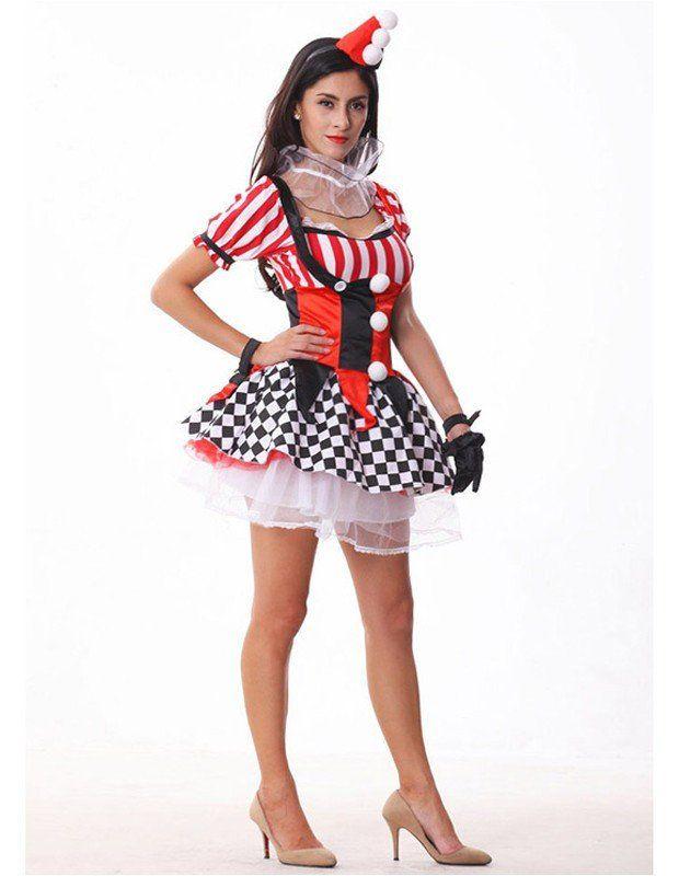 Classic Cute Female Halloween Clown Costume Pinterest Halloween