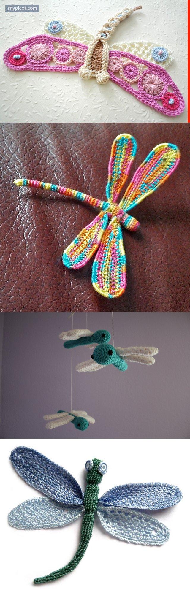 crochet dragonfly free pattern - Hakelmutzen Muster