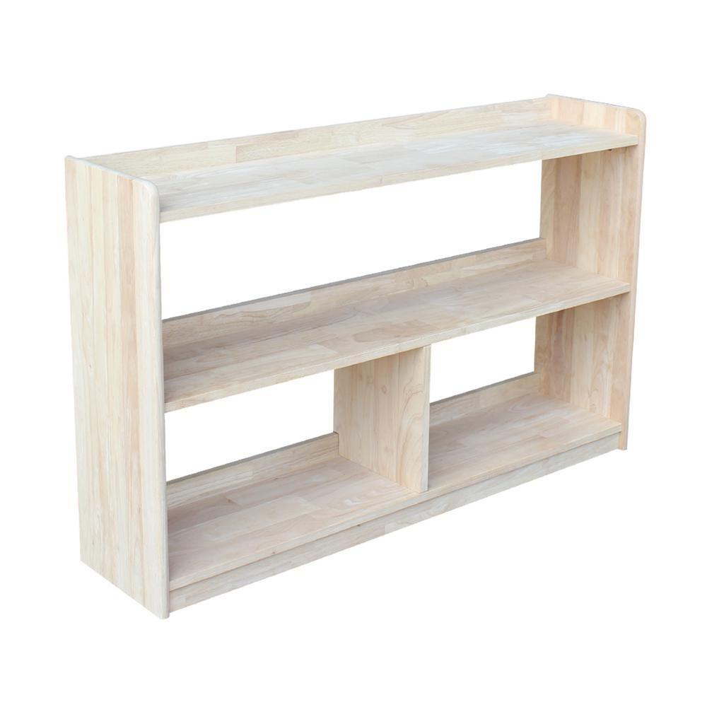 International Concepts 30 In Unfinished Wood 4 Shelf Unfinished Accent Bookcase Sh 14830 Mueble De Pared Muebles Para El Hogar Muebles Para Tv