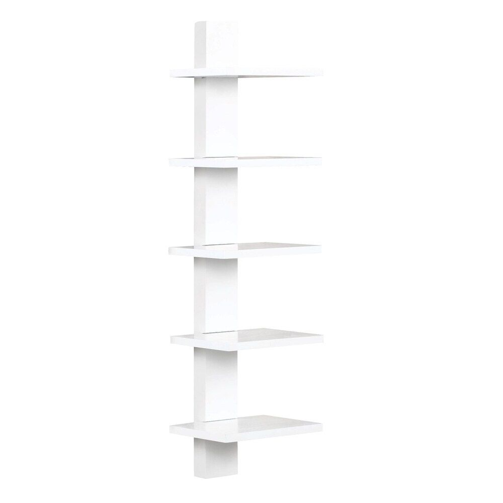 Spine Wall White Book Shelves Wall Mount Book Shelf Proman