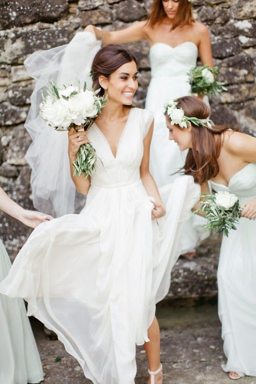 dress must have movement! | Chic Vintage Wedding Inspiration | Pinterest