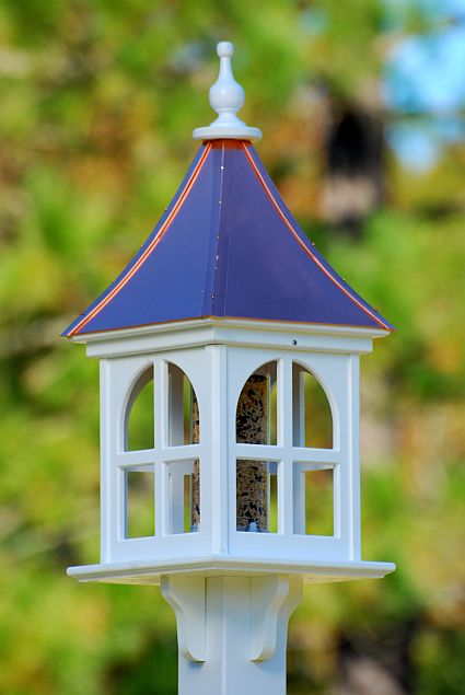 Fancy 12 Square Gazebo Birdfeeder Bright Copper Vogelhuisjes
