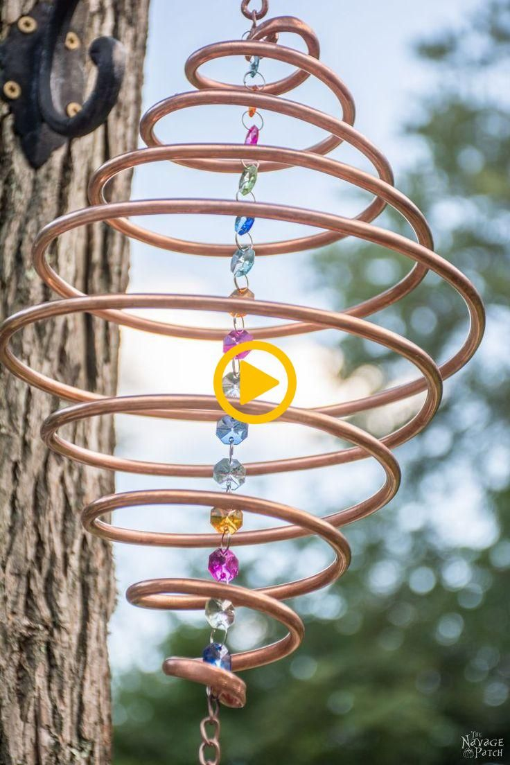 Coiled Copper Wind Chimes -                                   ... Coiled Copper Wind Chimes -                                   ...
