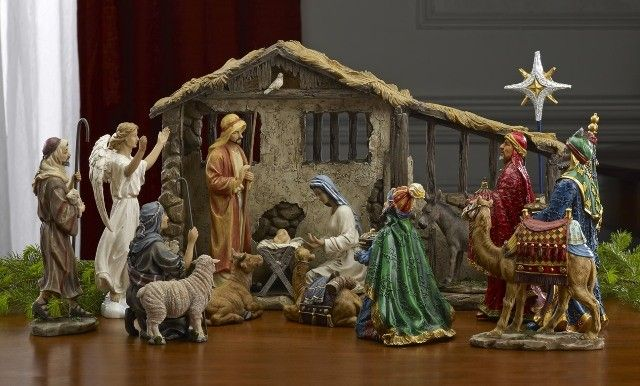 12 Piece Real Life Nativity Christmas Nativity Scene Christmas Nativity Set Christmas Nativity