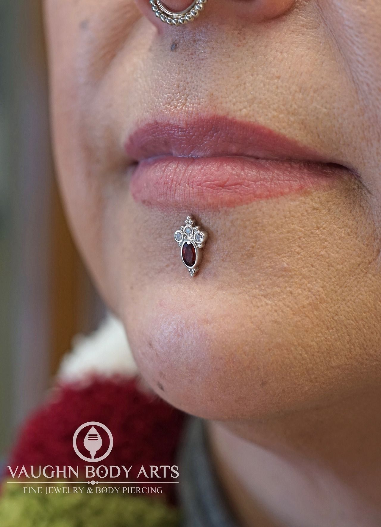 Piercing nose at home  Here is Estherus labret piercing three months after Cody pierced it