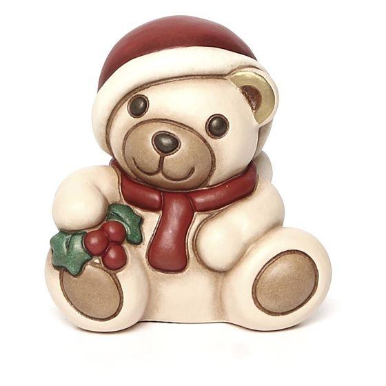 Natale Thun.Teddy Con Agrifoglio Natale Immagini Stampe