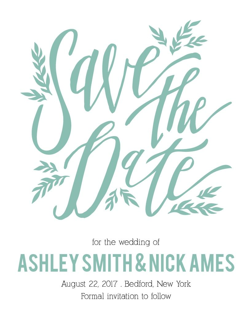 The Simple Wreath Save-the-Date Card