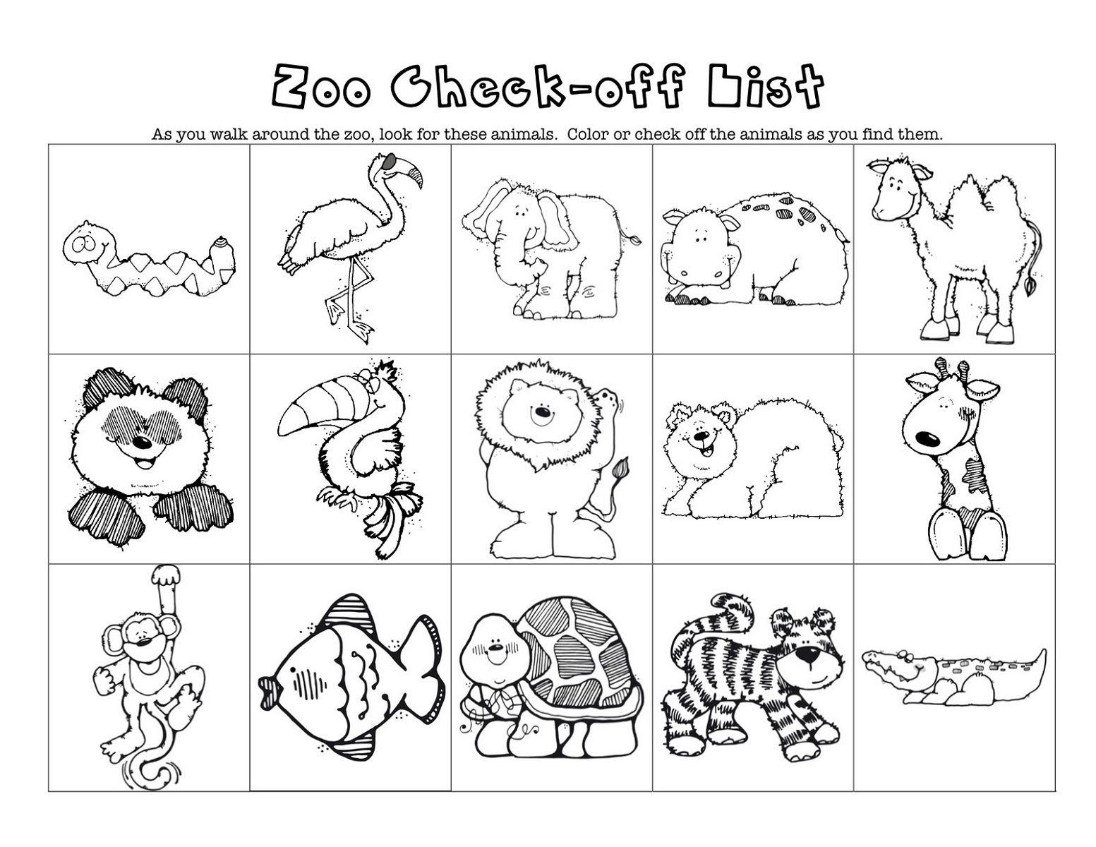 Online Worksheets For Kindergarten Zoo