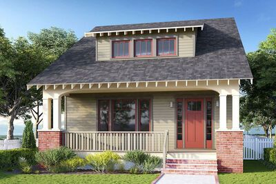 Bungalow House Plan with 3 or 4 Beds