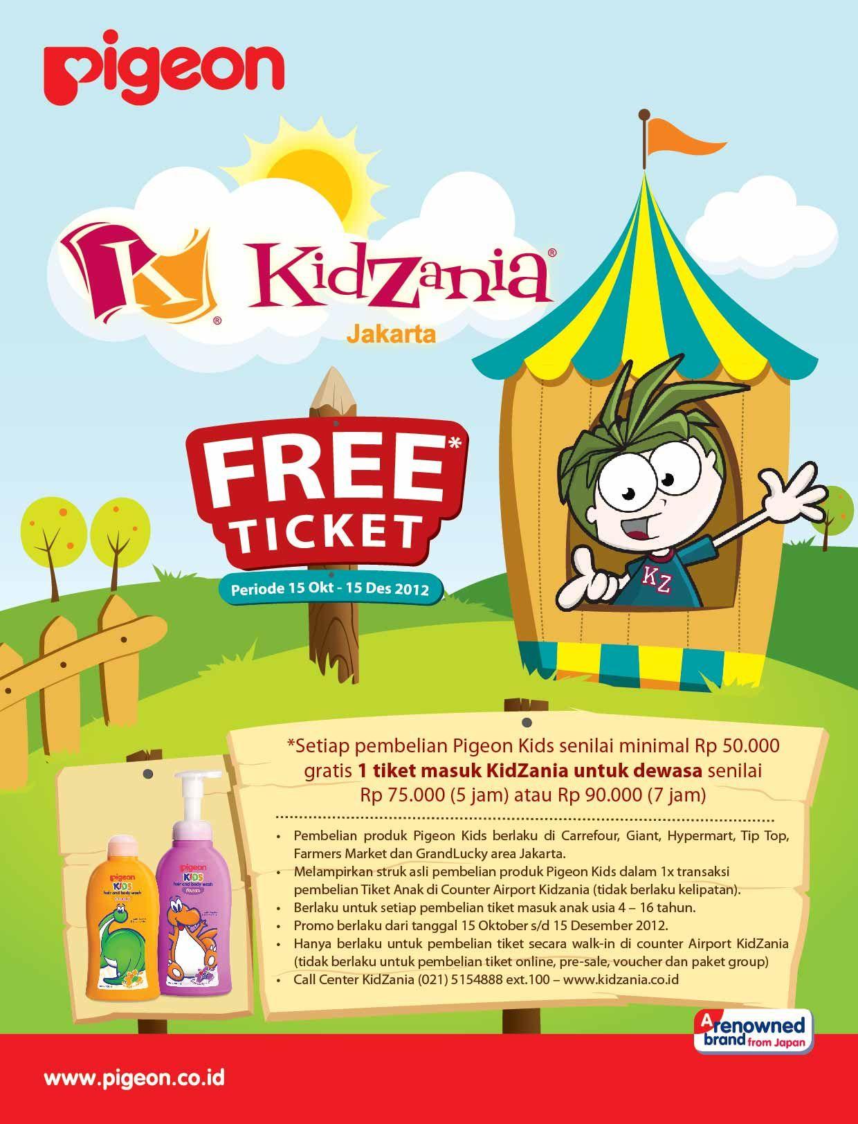 Joint Promo Kidzania Pigeon Info Detailnya Di Www Kidzania Co Id Atau M Kidzania Co Id Kids Design Comics Kids