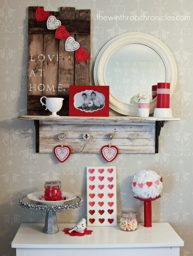 14 romantic diy home decor project for valentines day - Valentine Home Decorations