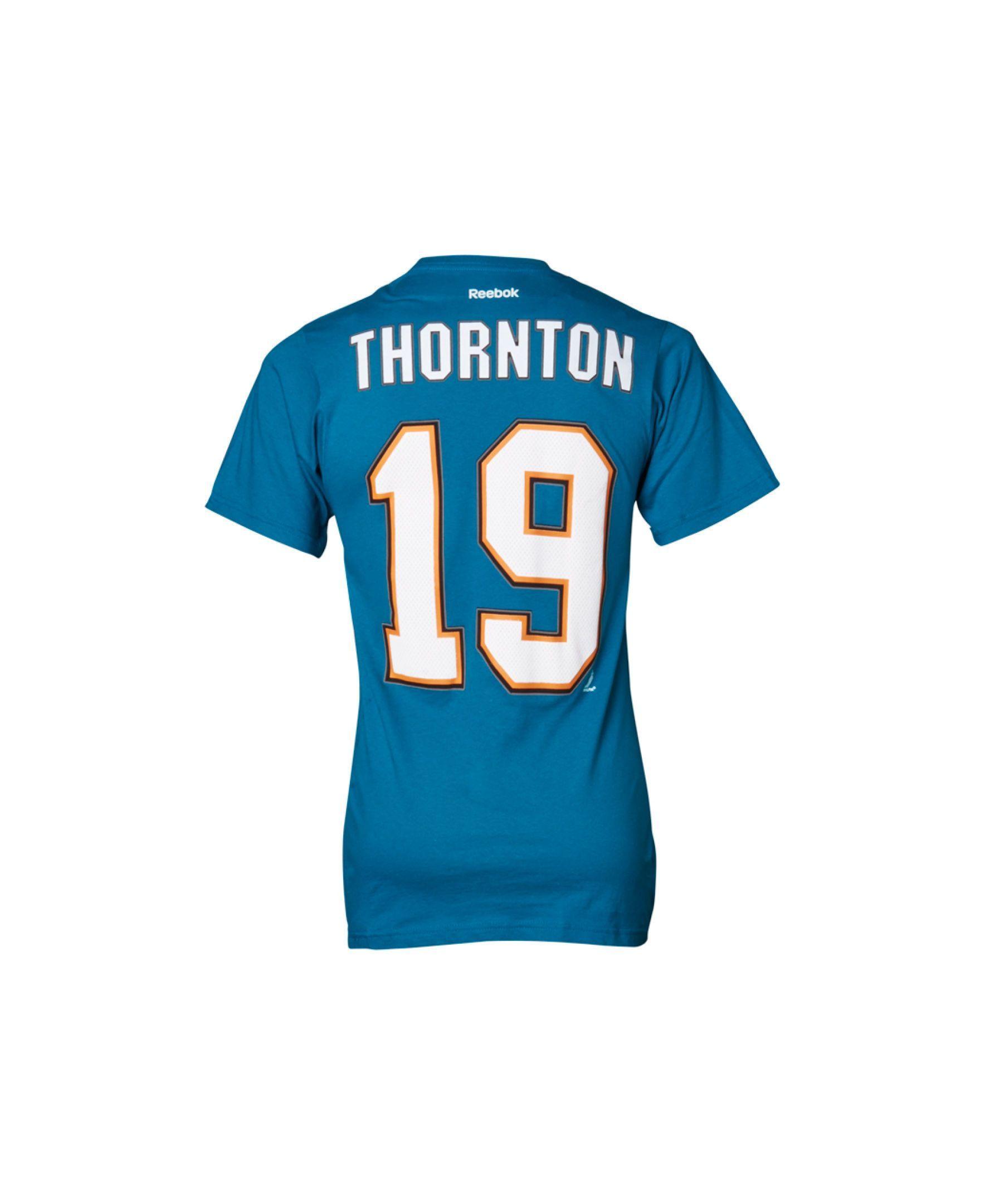 5c97010df06 Reebok Men's San Jose Sharks Joe Thornton Premier Player T-Shirt ...