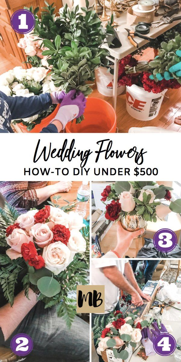 How I Did My Own Wedding Flowers with Pictures (Under $400)