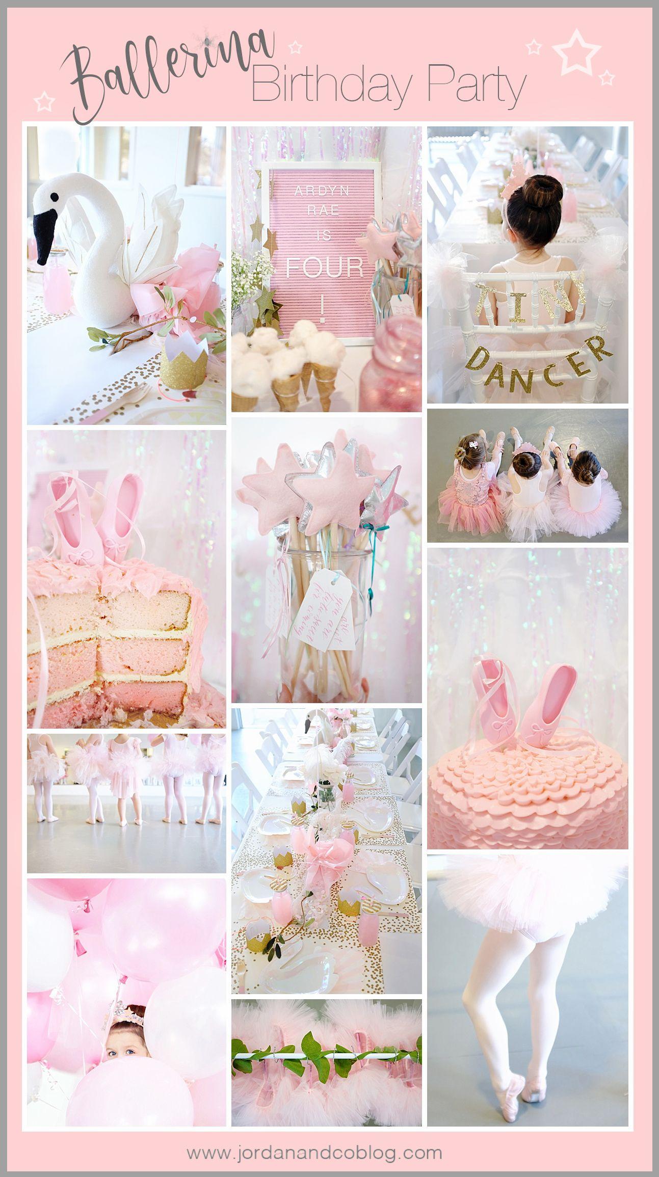 Ballerina Birthday Ballerina Birthday Party Decorations Ballerina Birthday Parties Girl Birthday Themes