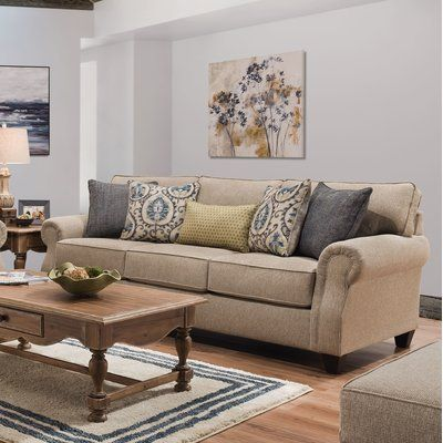 Darby Home Co Dannie 95 Wide Round Arm Sleeper Sofa Bed In 2021 Grey Walls Living Room Taupe Sofa Living Room Beige Living Rooms