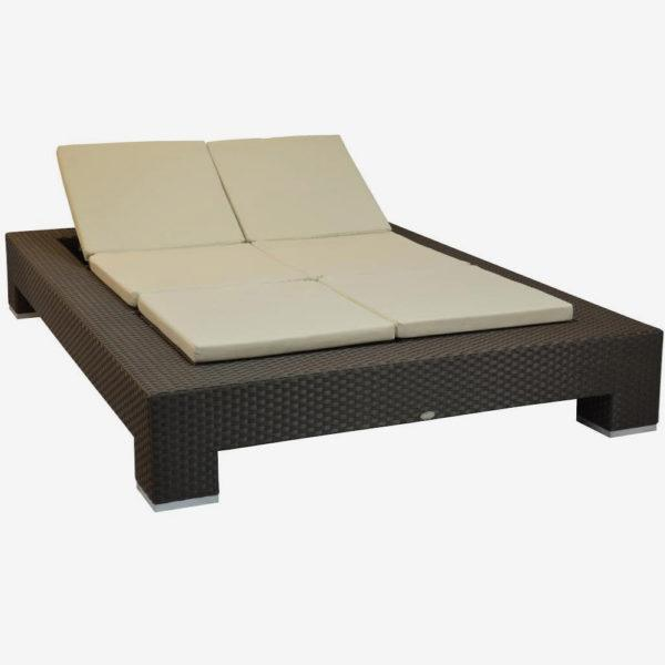 Chaise Lounge Outdoor.Feruci Venice Double Chaise Lounge Outdoor Patio Miami Outdoor
