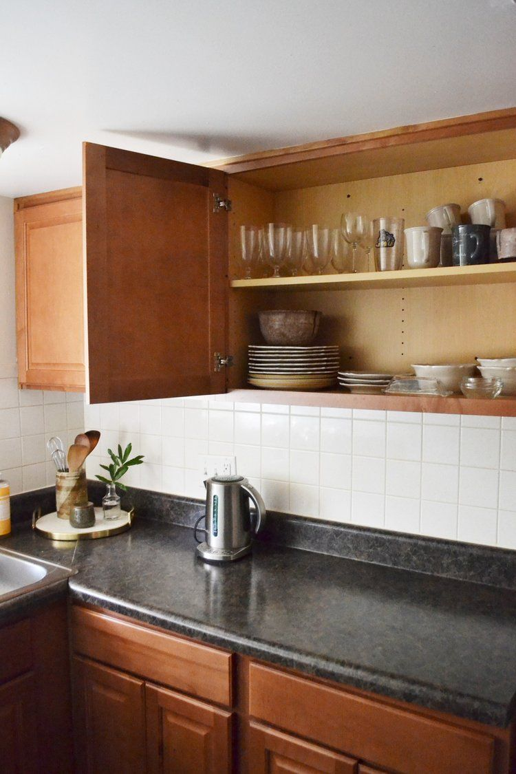 By Switching From A Coffee Pot To A French Press We Were Able To Really Open Up Our Counter Increasing The Space Declu Kitchen Kitchen Cabinets Making Room