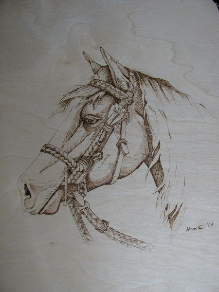 My First Pyrography Corby Horse Burned On Birchwood Pattern From L Irish Ma Premiere Pyrogravure C Wood Burning Art Pyrography Art Wood Burning Patterns