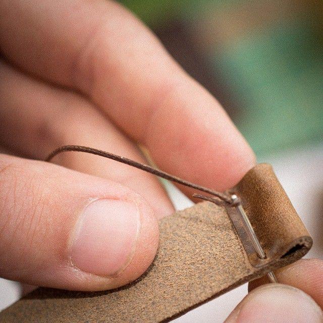 Stitching a watch strap