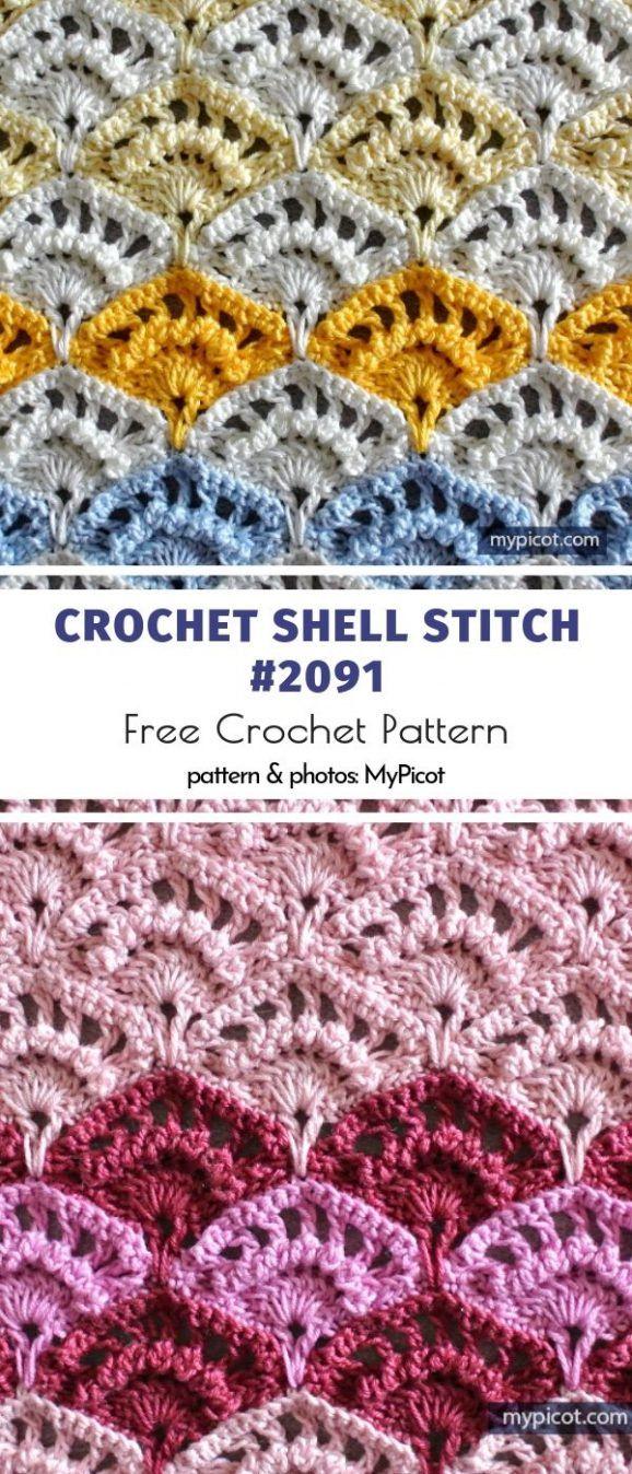 Stunning Shell Stitches #crochetstitches
