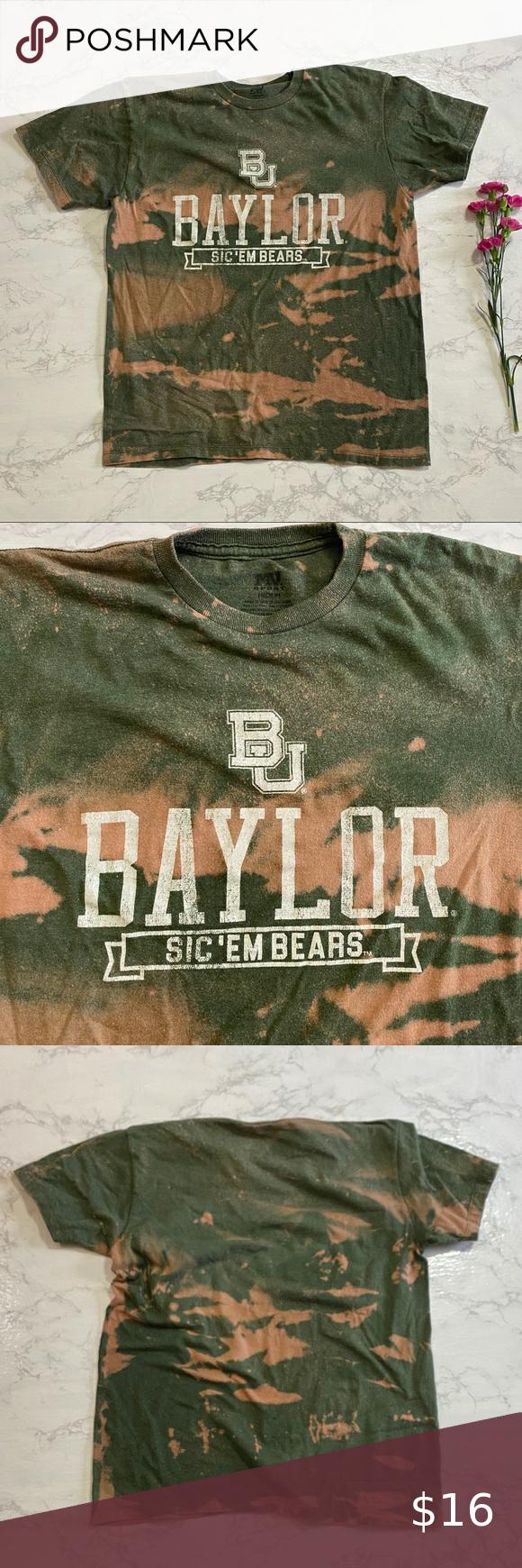 Baylor University Sic Em Bears bleached tee m in 2020