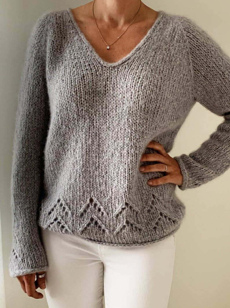Knitting Pattern Top Down Sweater Pullover The Evermore In 2020 Sweater Knitting Patterns Sweater Pattern Sweater Fashion