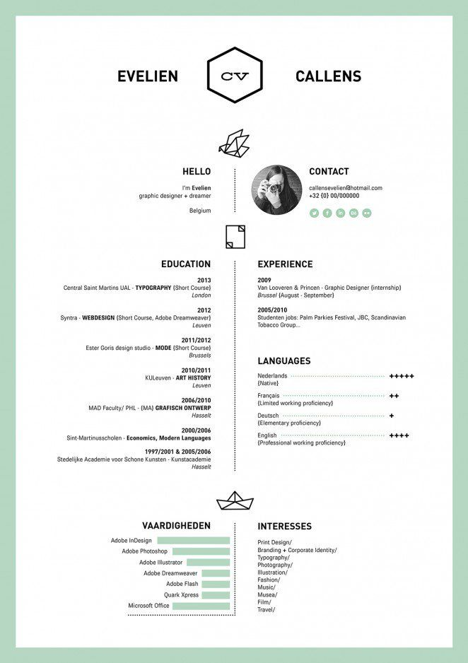 50 inspiring resume designs and what you can learn from them design school - Mad Bewerbung