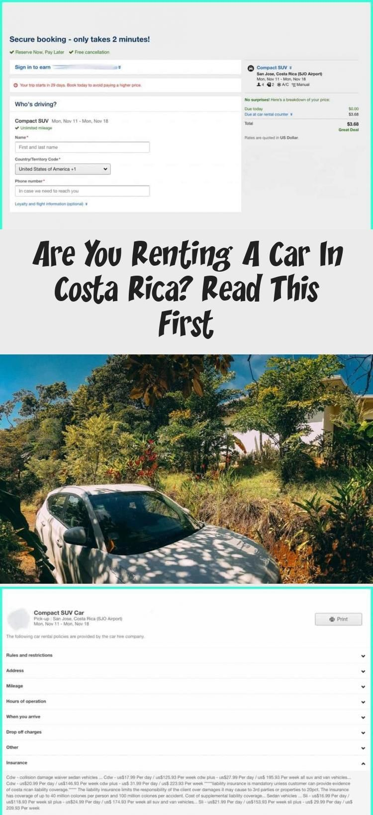 Are You Renting A Car In Costa Rica Read This First In 2020 Car