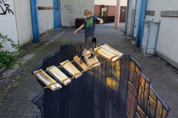 Incredible !!!! Drawing on the floor