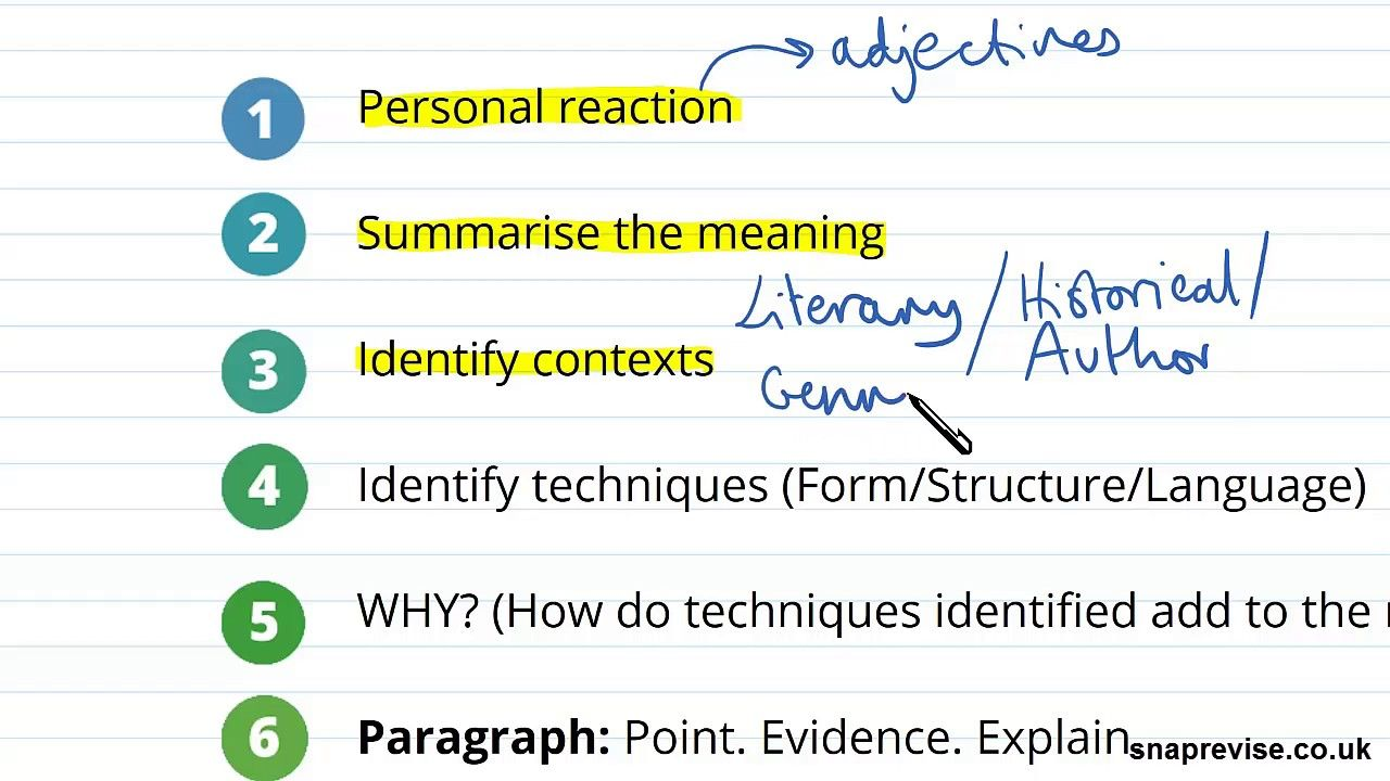 Introduction To Analysing Prose Part 1 A Level English Literature Aqa Essay Structure