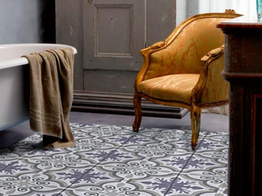 Skapa ett vackert och dekorativt golv till ditt badrum med Lhådös kakel Marocko527-LH2.