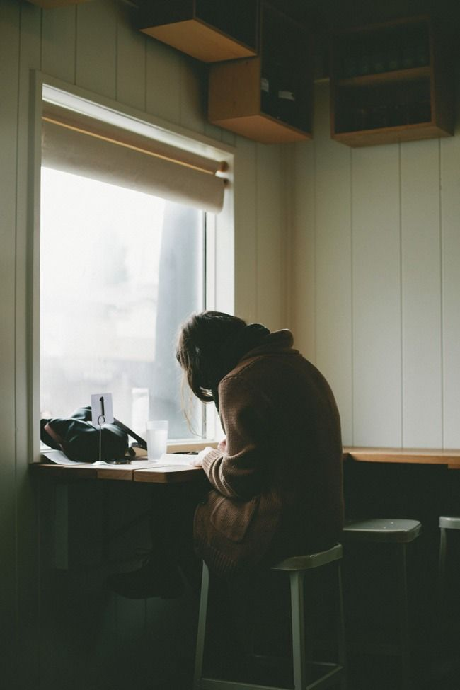 Sometimes I need to be alone and just write to myself because it relieves me from stress .