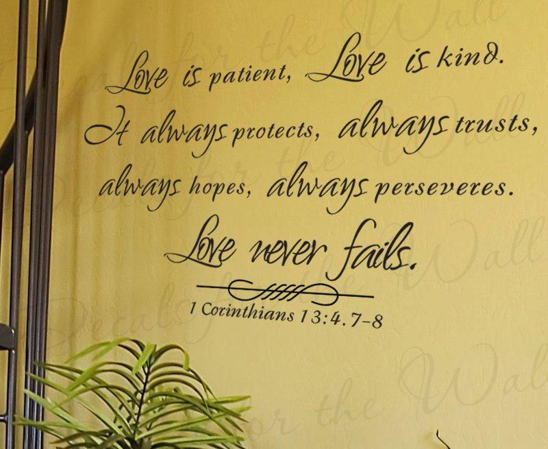 Love Patient Kind Protects Trusts Hope 1 Corinthians 13 ...