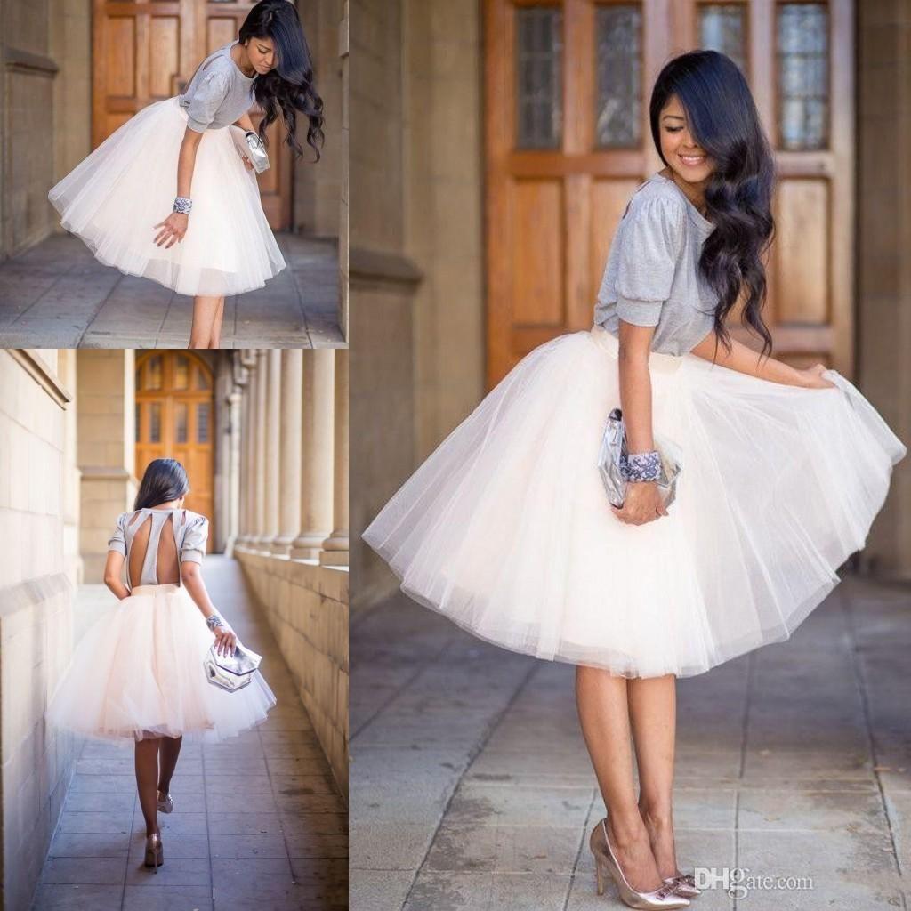 New tutu skirts for women 2017 vintage tulle skirts for Tea length wedding dress tulle skirt