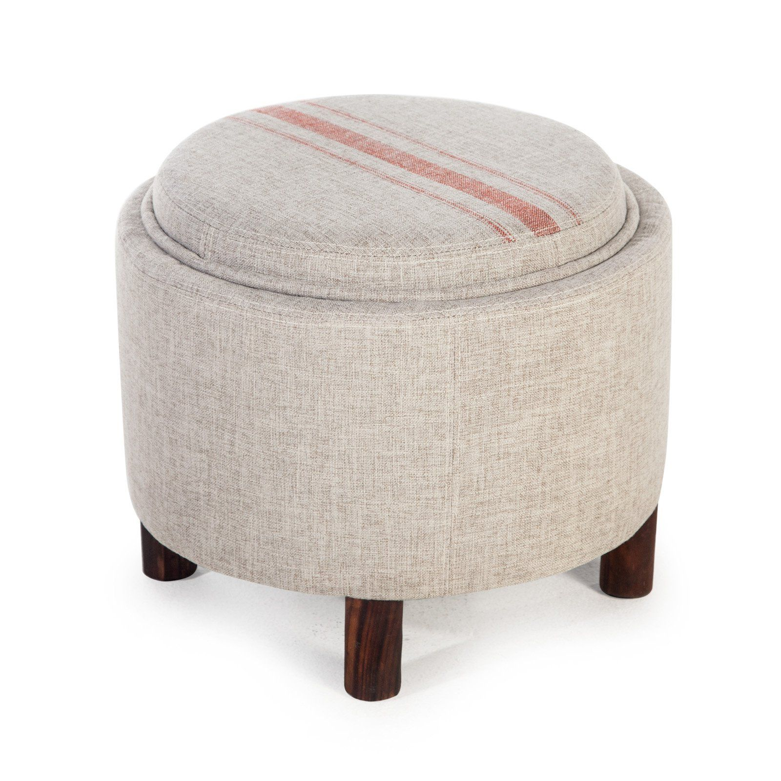 Admirable Belham Living Ingram Round Storage Ottoman With Cocktail Pdpeps Interior Chair Design Pdpepsorg
