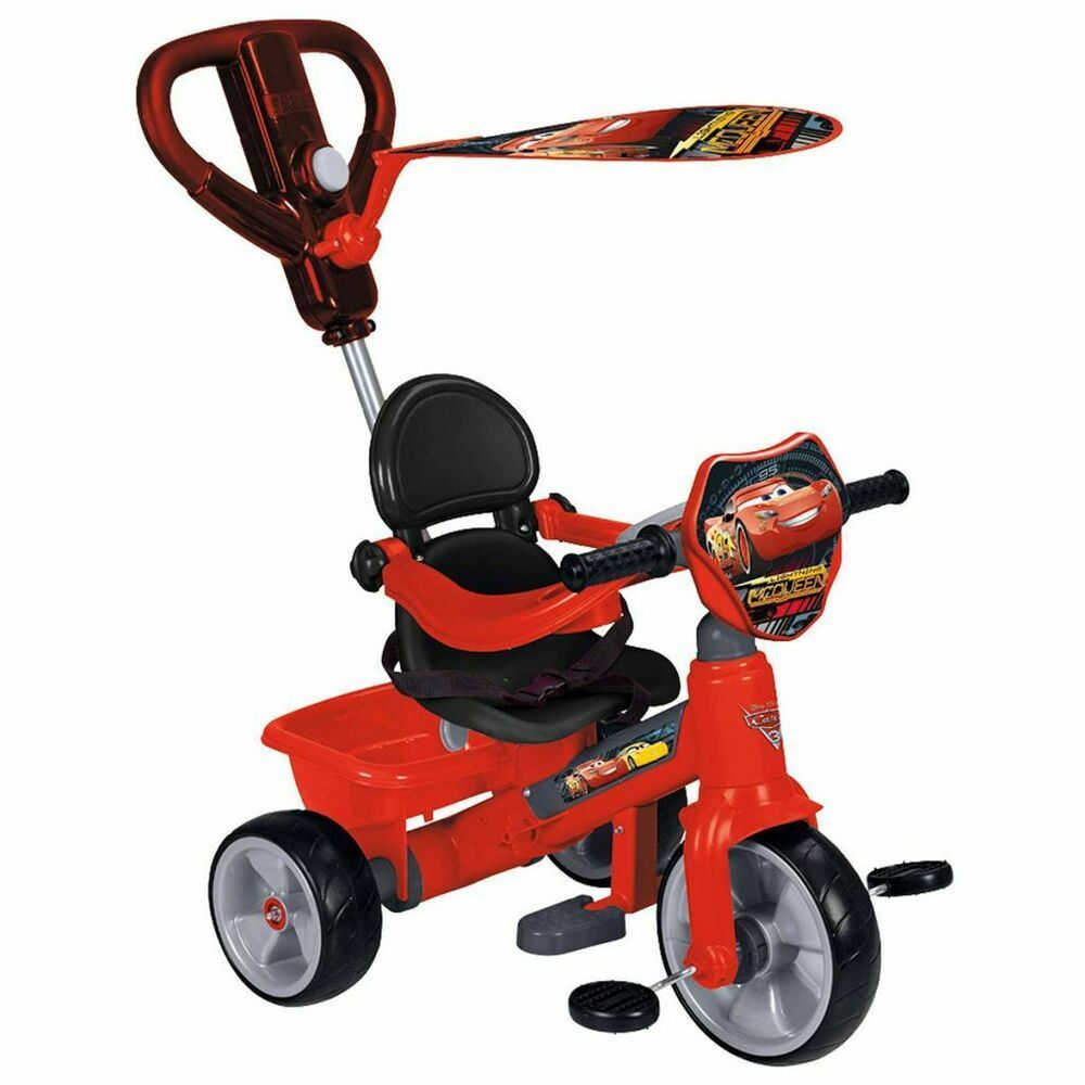 Feber Tricycle A Roulettes Velo Pour Enfants Bebe Cars 3 Rouge