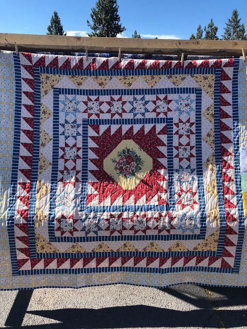 Barrister's Block Medallion quilt, Quilts, Bohemian rug