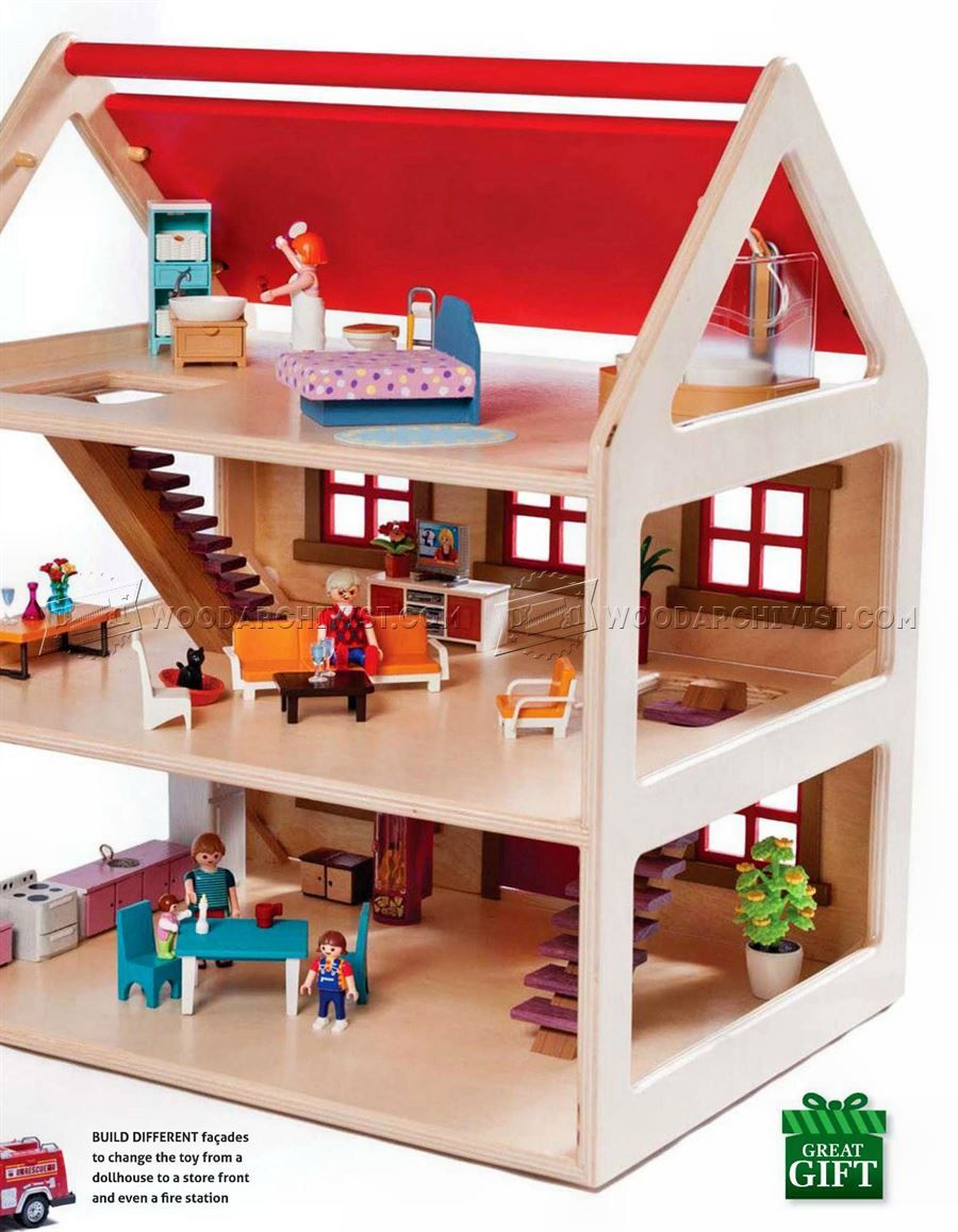 3198 toy house plans - wooden toy plans | doll house | doll