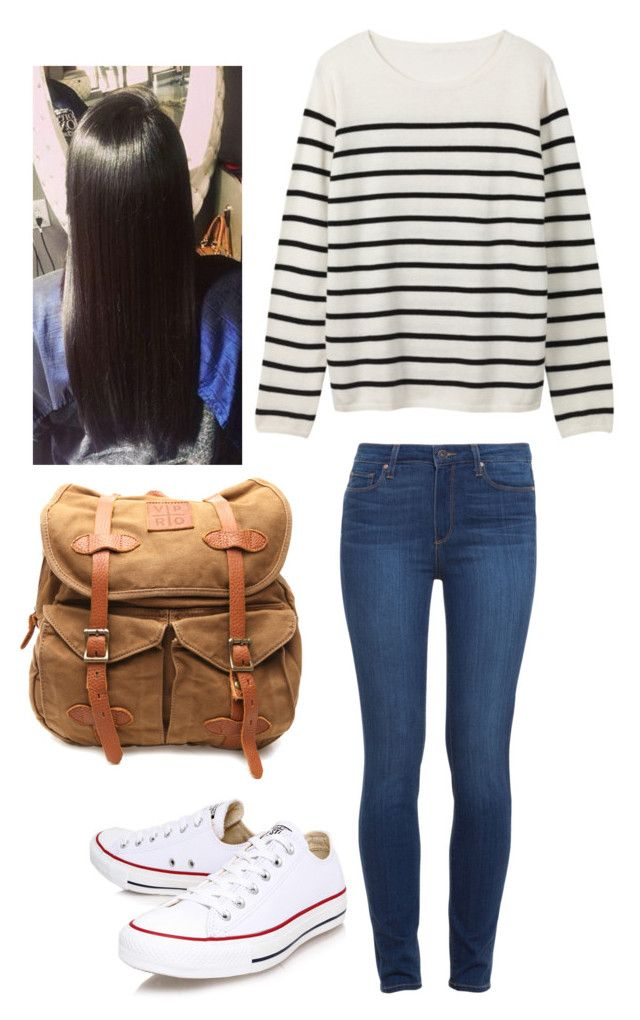 """Untitled #507"" by hdflynn ❤ liked on Polyvore featuring VIPARO, Converse and Paige Denim"