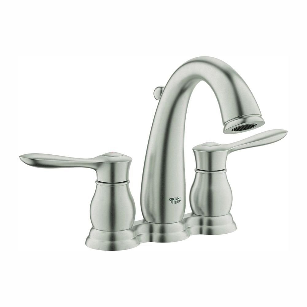 Grohe Parkfield 4 In Centerset 2 Handle Bathroom Faucet In