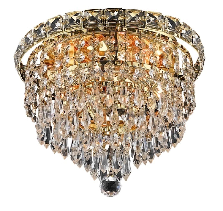 Elegant Lighting 2526f10g Rc Tranquil 8 Inch High 4 Light Flush
