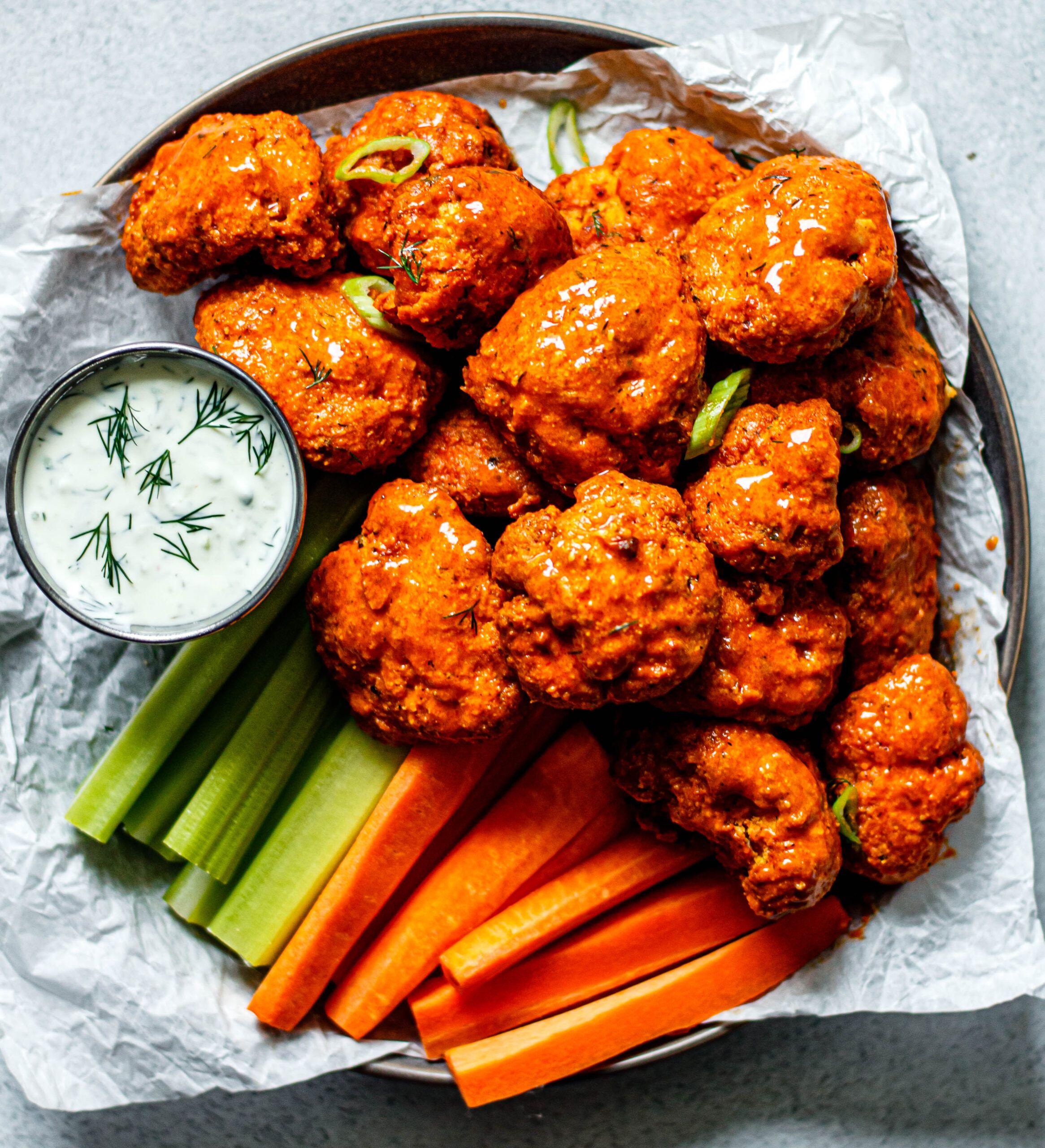 Air Fryer Buffalo Cauliflower All the Healthy Things