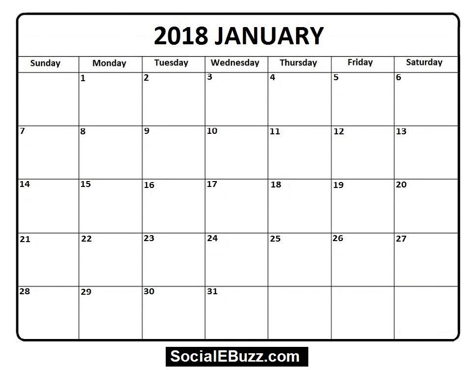 Best 25+ January 2018 calendar printable ideas on Pinterest - preschool calendar template