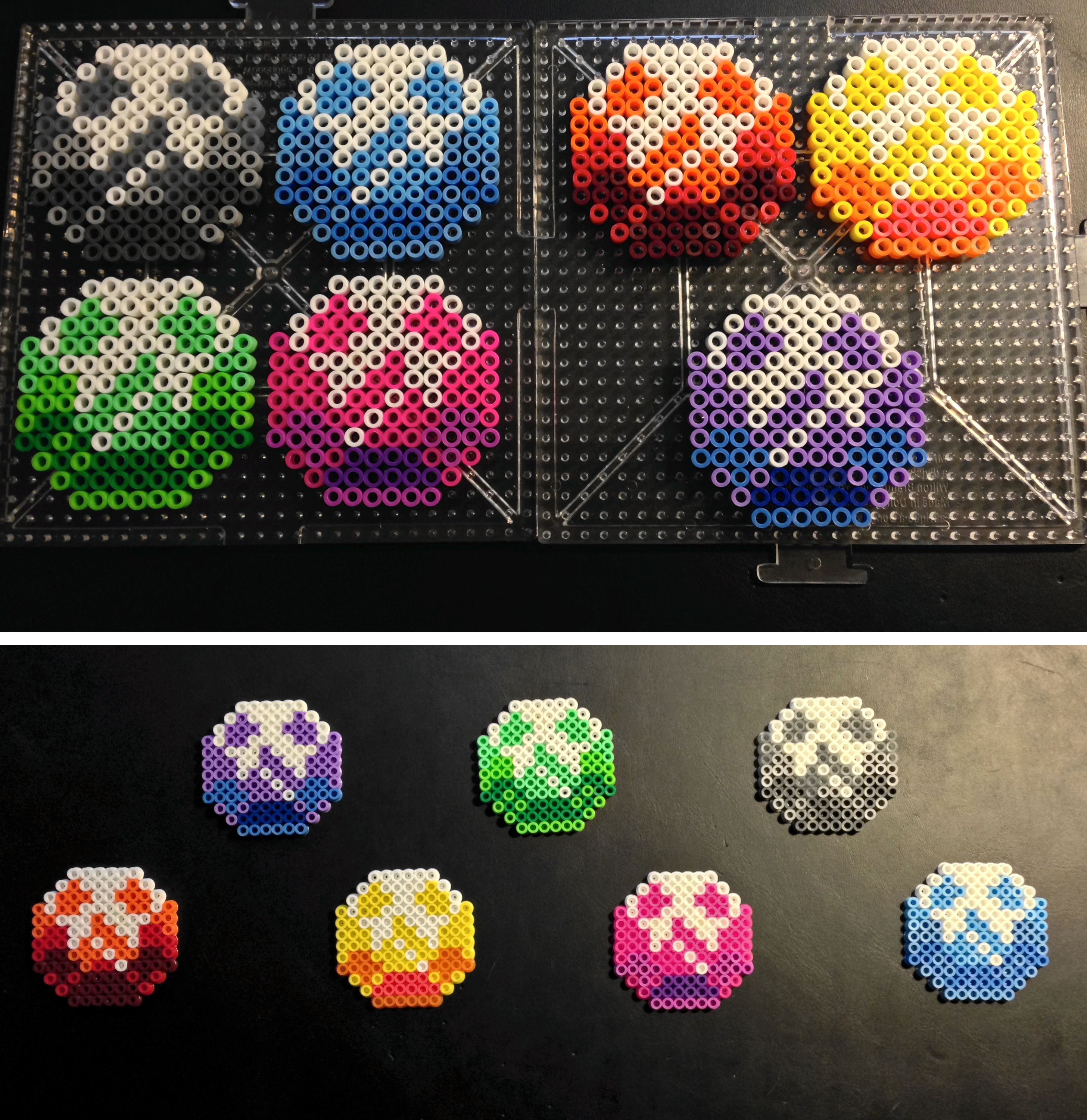 Chaos Emeralds Sonic The Hedgehog 2 Super Sonic Completed Perler